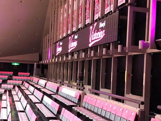 「姫路市ウインク体育館」リボンビジョン&演出