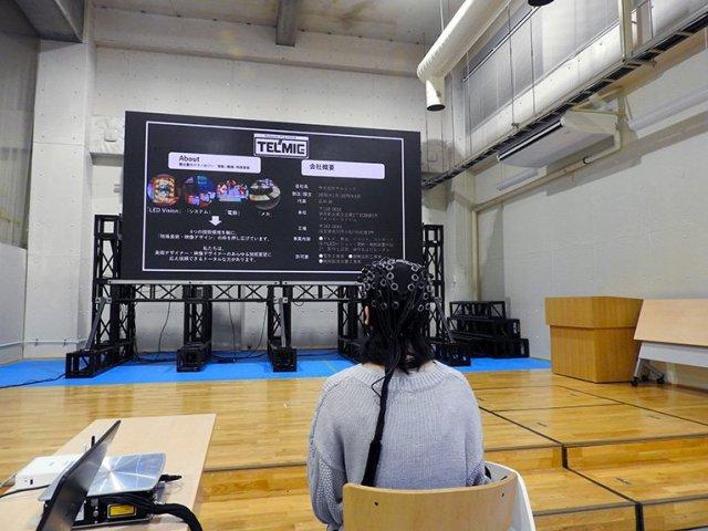 LEDディスプレイとプロジェクターによる心理評価実験を京都大学と共同で実施